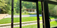 Véranda toiture victorienne 20m2 coulissants triple vitrage