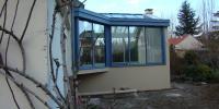 Véranda bleue et blanche - 5,10m x 3,90m - 20m²